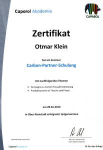 2013-01-29 Otmar Klein Carbon Partner Schulung